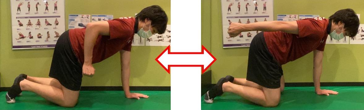 二の腕を鍛えるキックバックのやり方