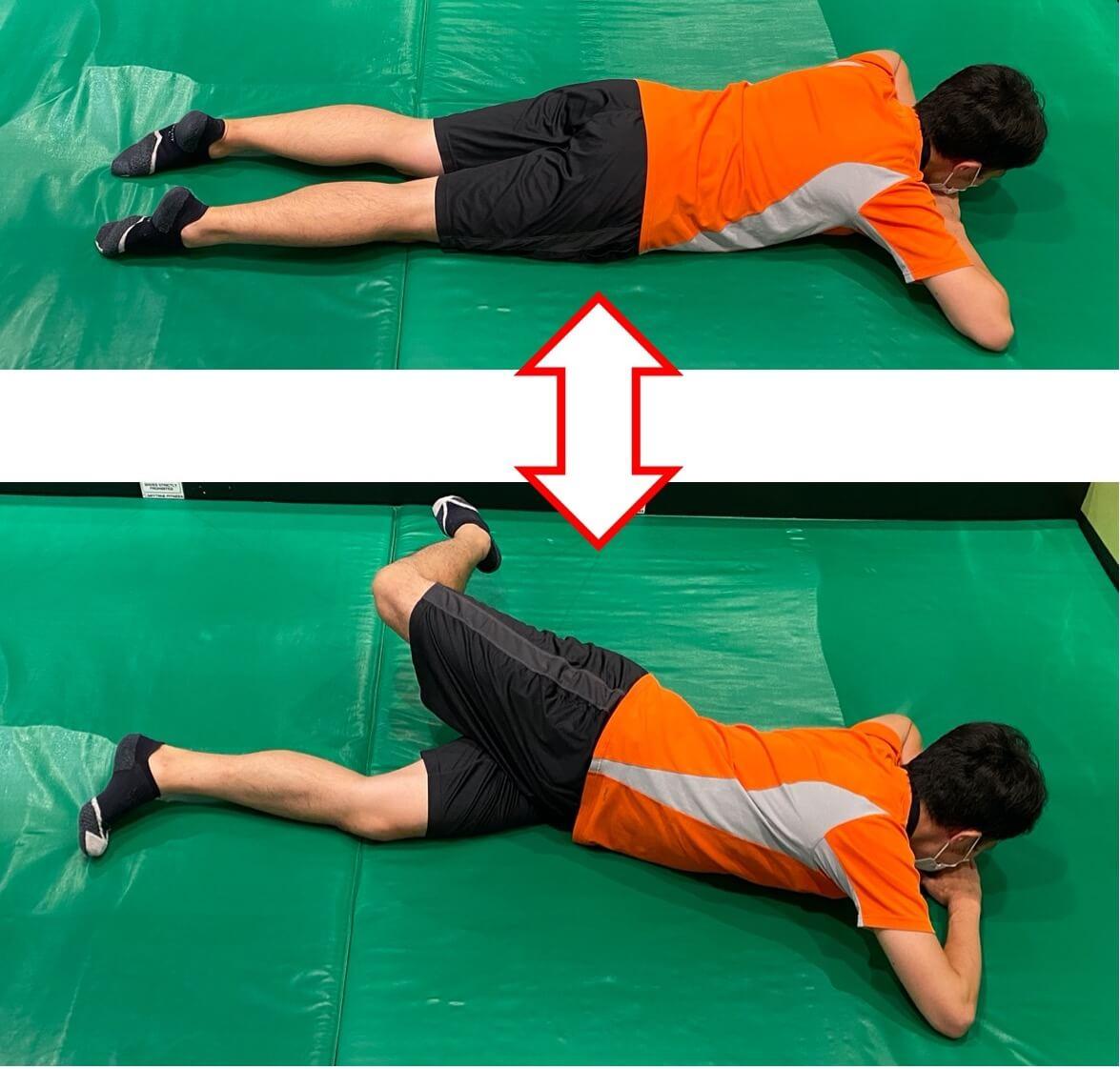 腰を捻る腰痛エクササイズ